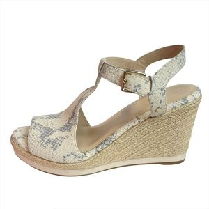 Cole Haan Cloudfeel Espadrille Wedge Python Sandal